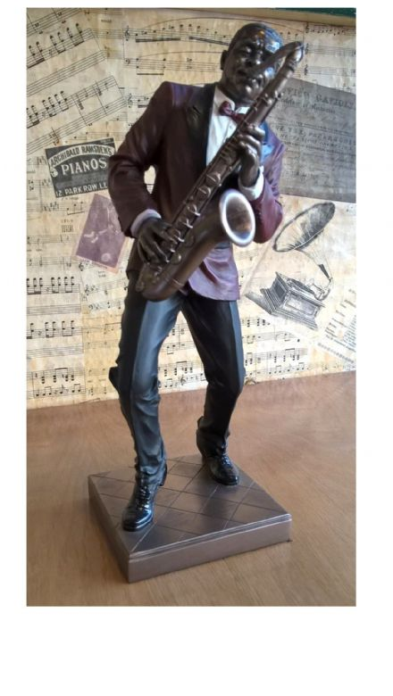 Large Jazz Band Figure Sax Player